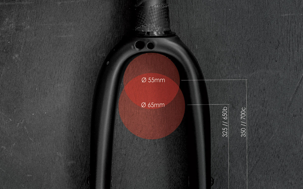 Spork 2.0 carbon bicycle fork tire size