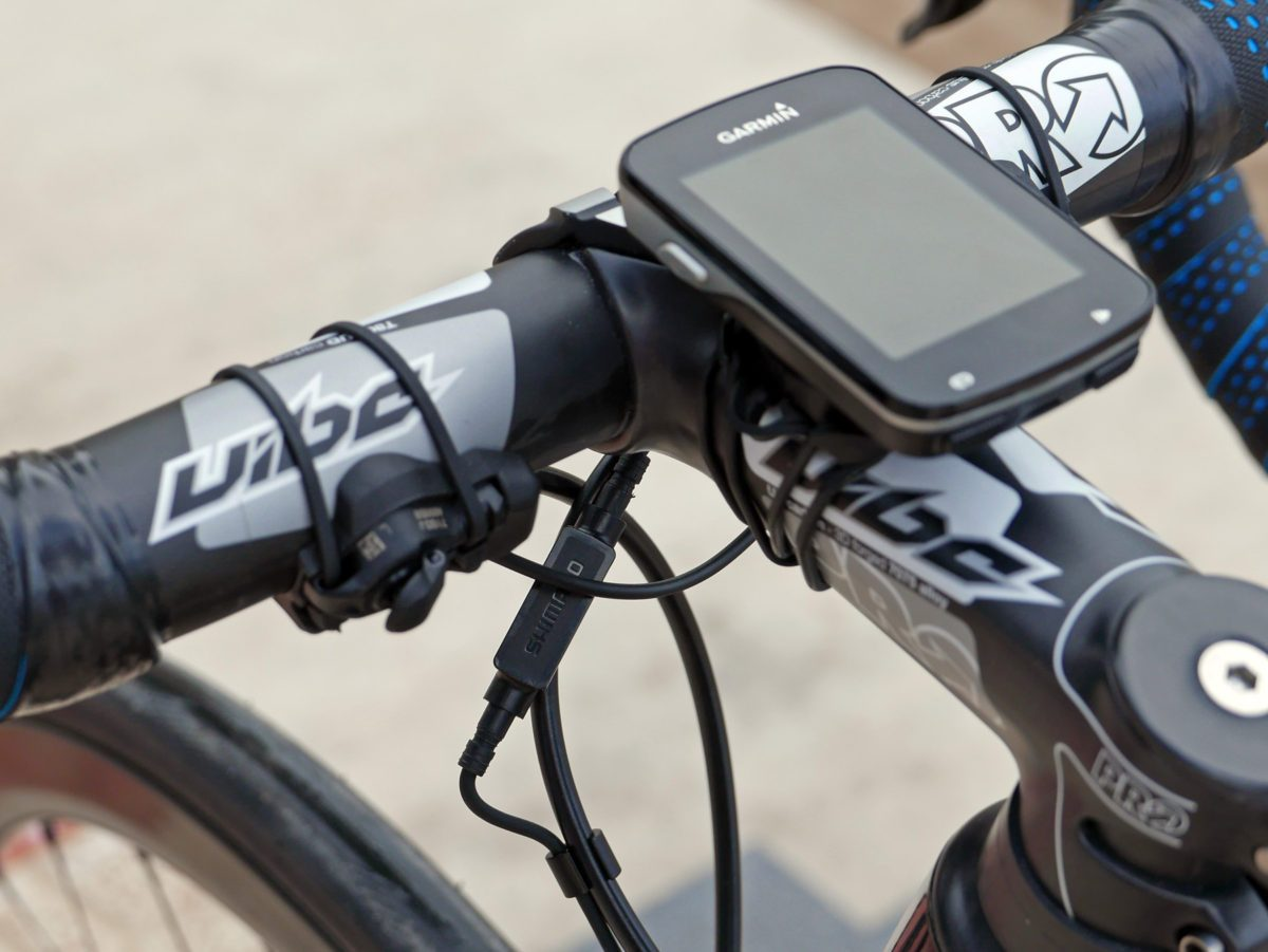 Shimano Di2 climbing shifter switch on handlebar