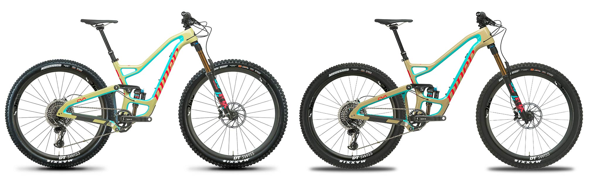 wheel size comparison for 29er and 275 on new Niner RIP9 RDO mountain bike