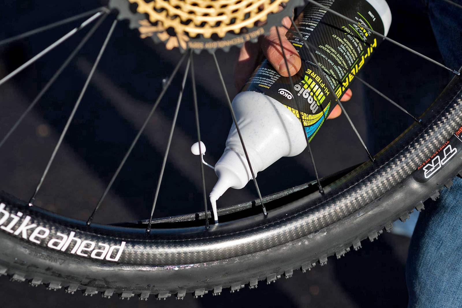 OKO Magic Milk Hi-Fibre sealant high-pressure road, low-pressure DH CX MTB race spec tubeless tire tyre sealant
