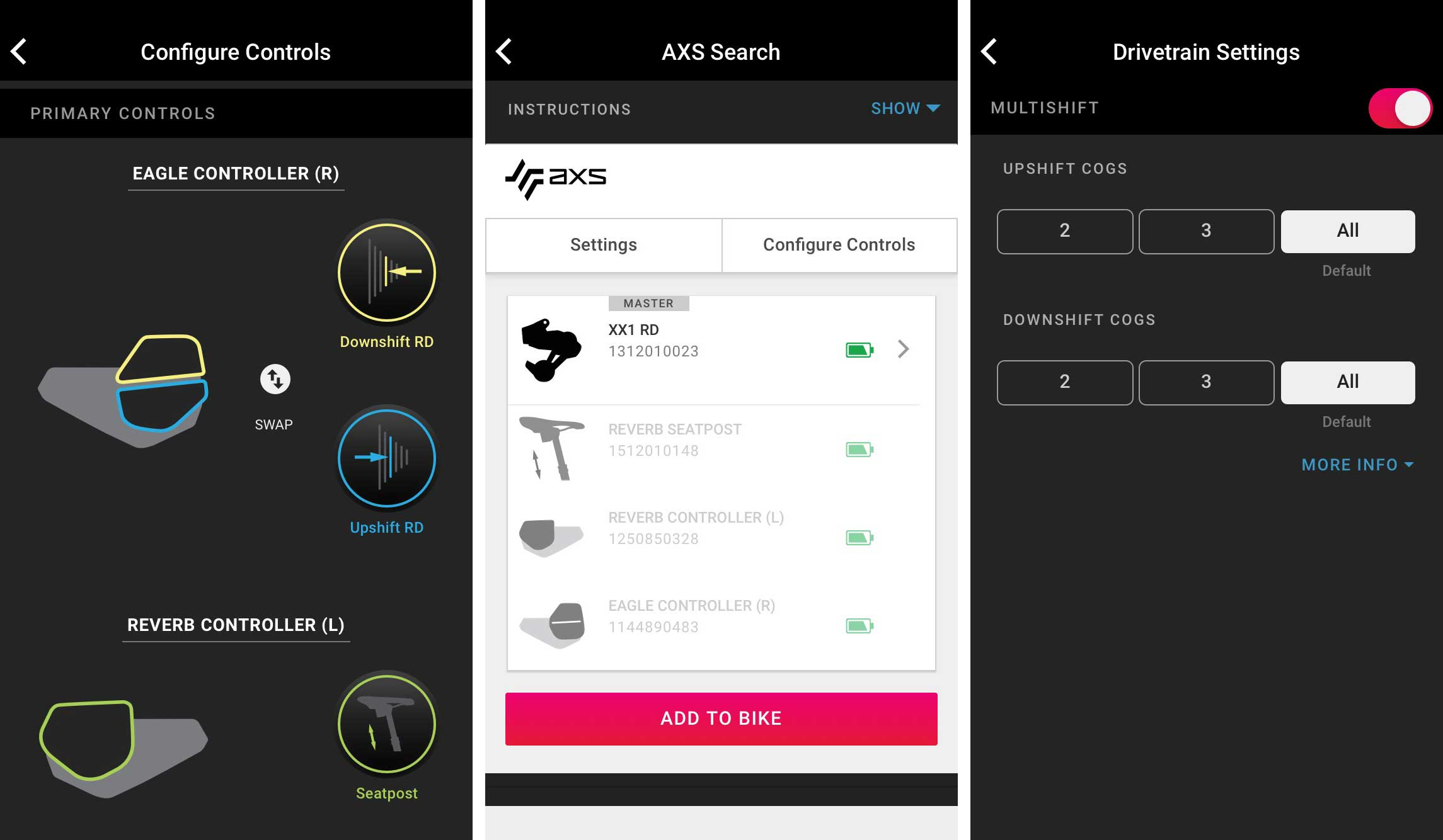 how does the SRAM AXS app work for mountain bike shifter customization