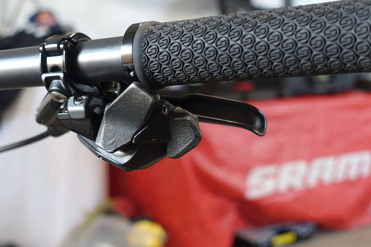 customized prototype SRAM eagle etap axs wireless shifter paddles and buttons