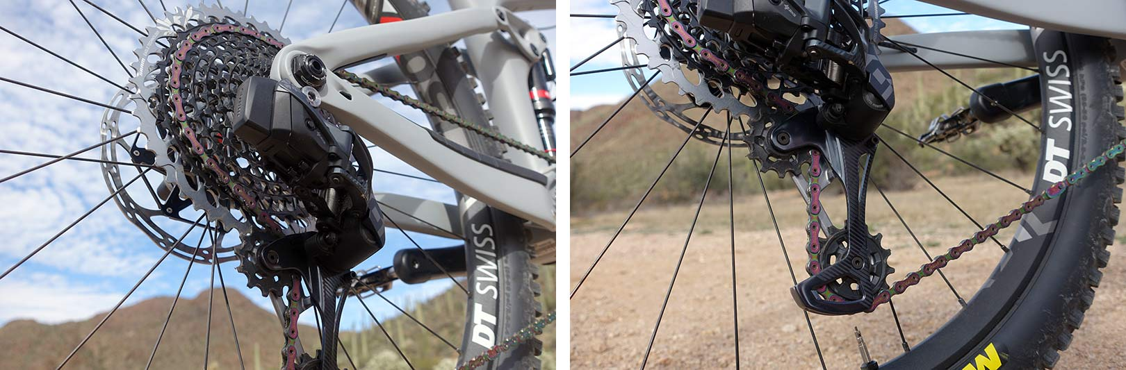 SRAM Eagle AXS eTap X01 and XX1 mountain bike group with wireless shifting tech info and details