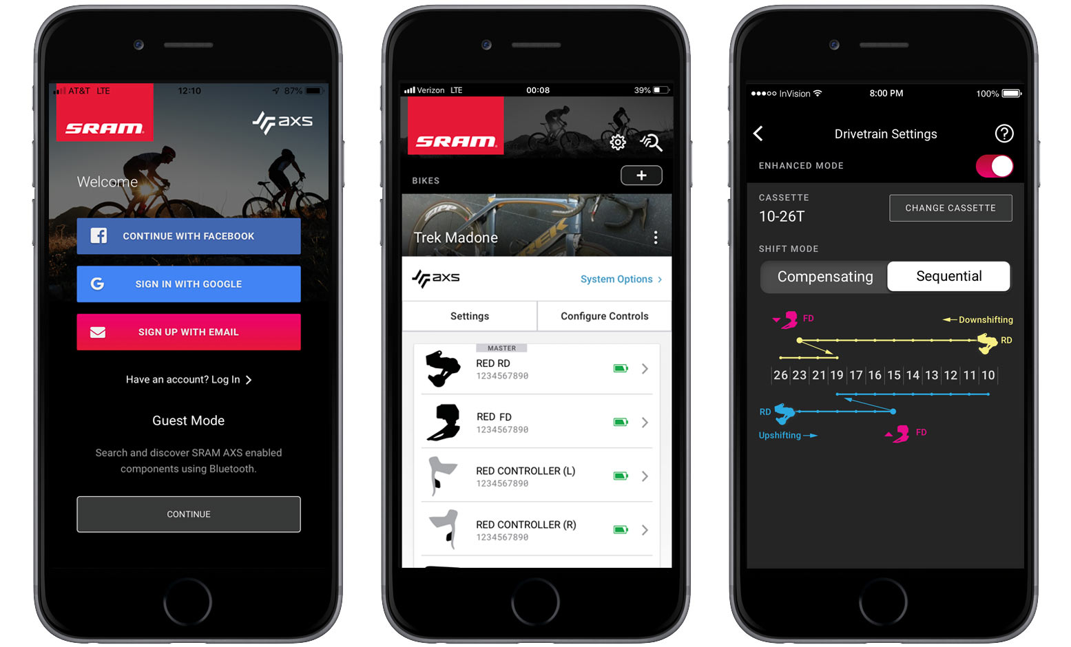 how to use the SRAM axs app to set up wireless shifting on road and mountain bikes