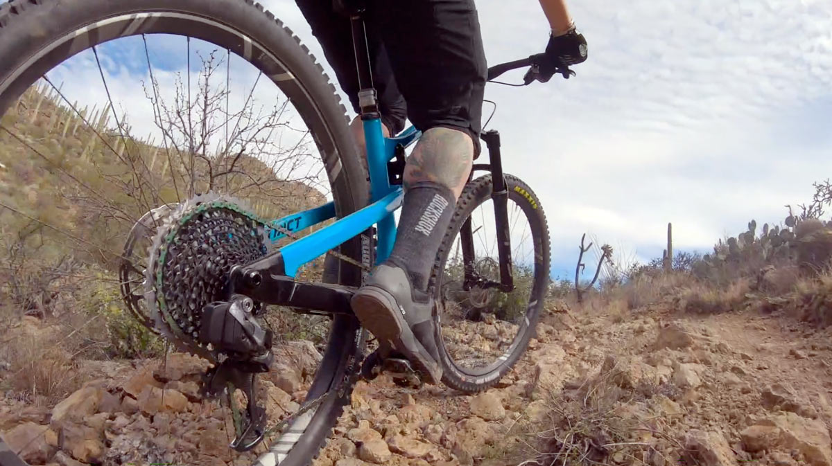 video about the new SRAM RED eTap AXS and SRAM Eagle AXS electronic wireless shifting bicycle drivetrain groups