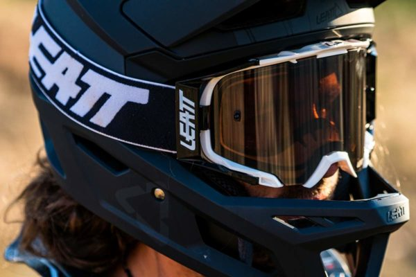 Leatt Velocity 6-5 mountain bike goggles with bulletproof lenses are interchangeable to mix and match frame and lens colors and types