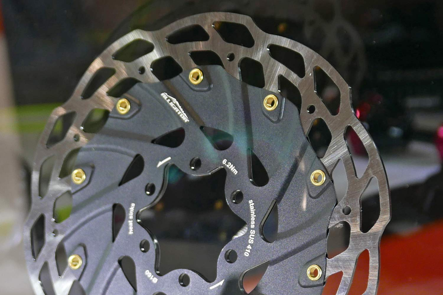 Alligator Heat Sink rotor. stainless steel disc brake rotor with aluminum heat-sink cover sandwich