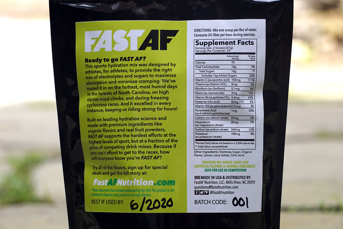 Affordable premium organic sports drink mix from Fast AF