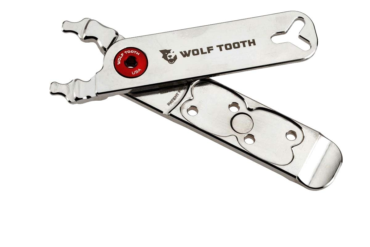 Wolf Tooth shines up durable, nickel-plated Pack Pliers chain multi-tool