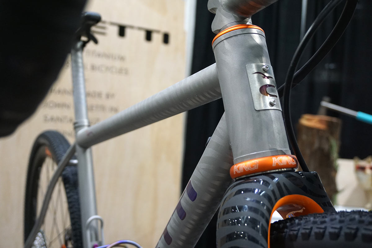 caletti cycles titanium road bike with paint from jeremiah kille to match limited edition giro road bike kit and shoes