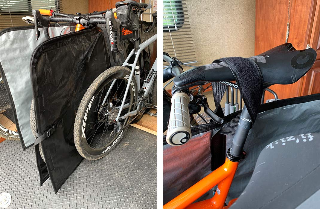whats the best way to protect road and mountain bikes in the back of an RV or toyhauler or sprinter van