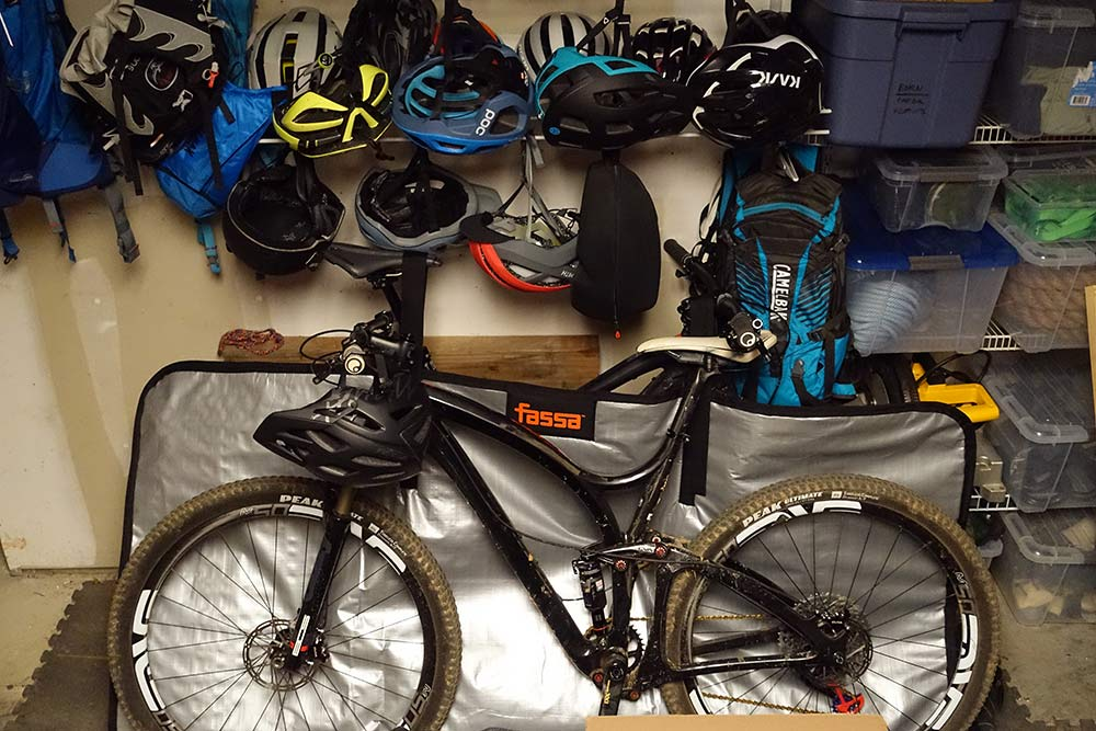 how to keep bikes from getting scratched in the garage or storage shed