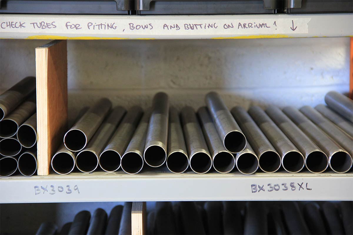 five-land-bikes-factory-tour-swarf-cotic-steel-handmade-fabrication-reynolds-tube-cutting-ovalised