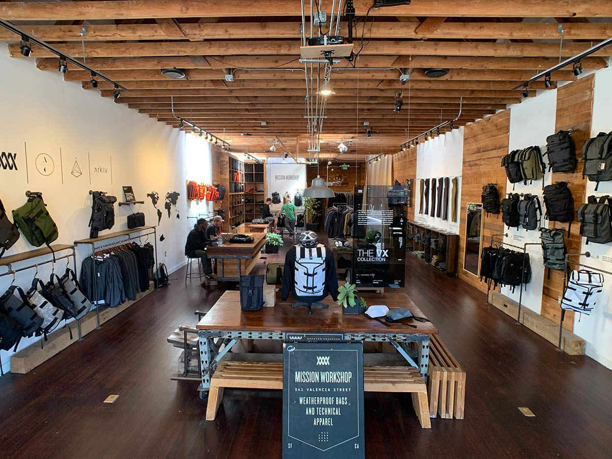 mission workshop showroom and retail store tour