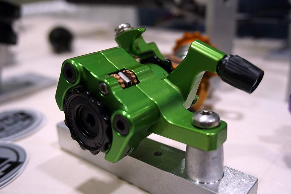 paul component 30th anniversary green anodized parts