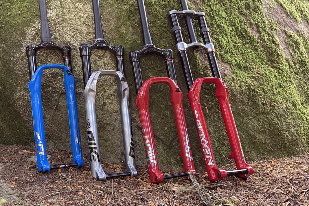 my2020 rockshox sid pike lyrik and boxxer ultimate suspension forks for all kinds of mountain bikes
