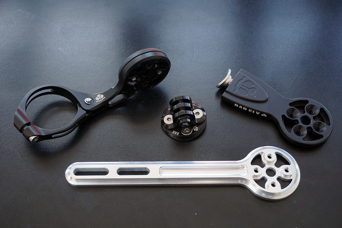barfly lightweight machined alloy out front mounts for gps cycling computers