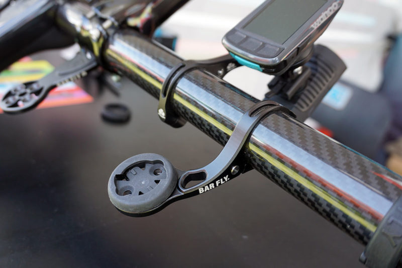 barfly race mini out front mount for garmin and wahoo gps cycling computers