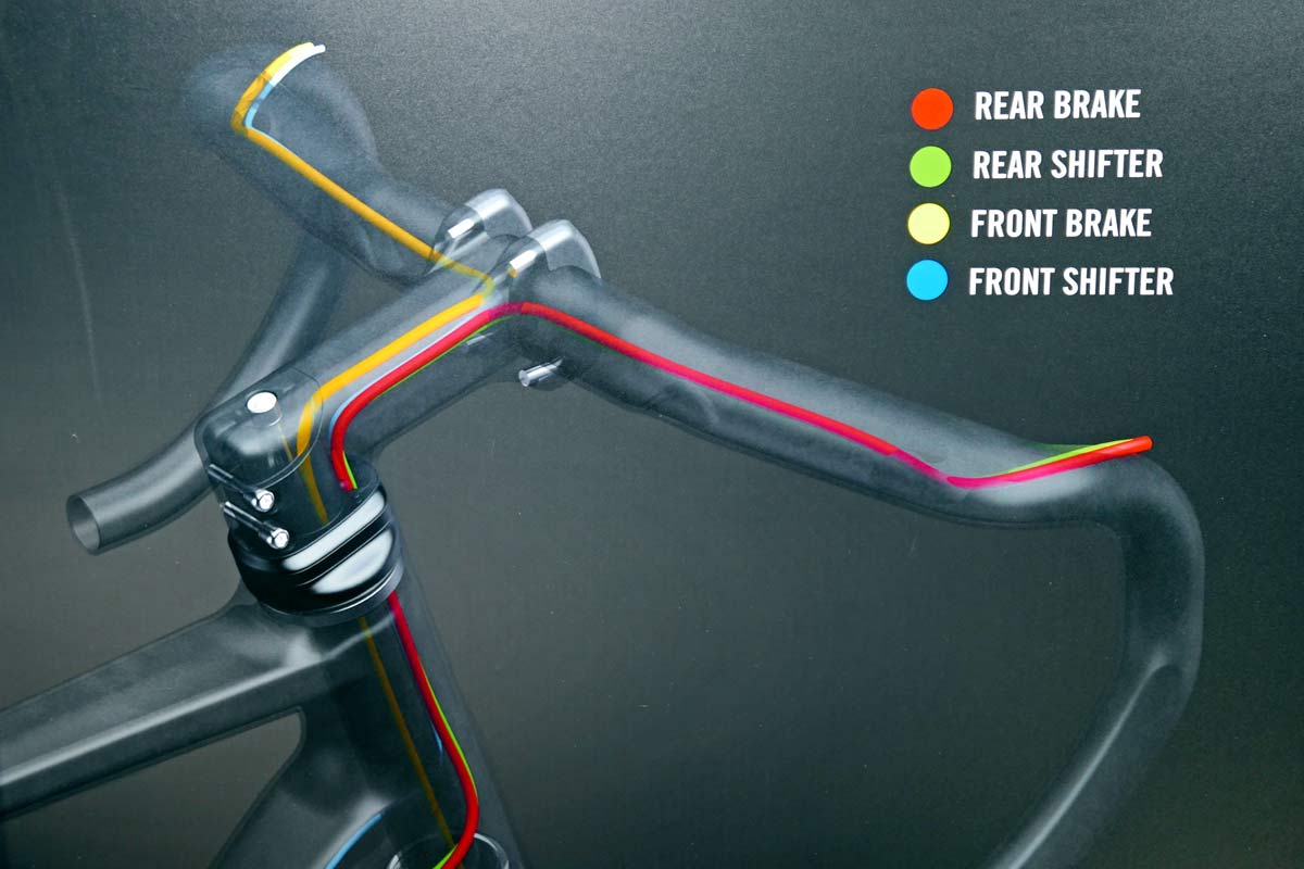FSA ACR aero stem with internally routed cabling