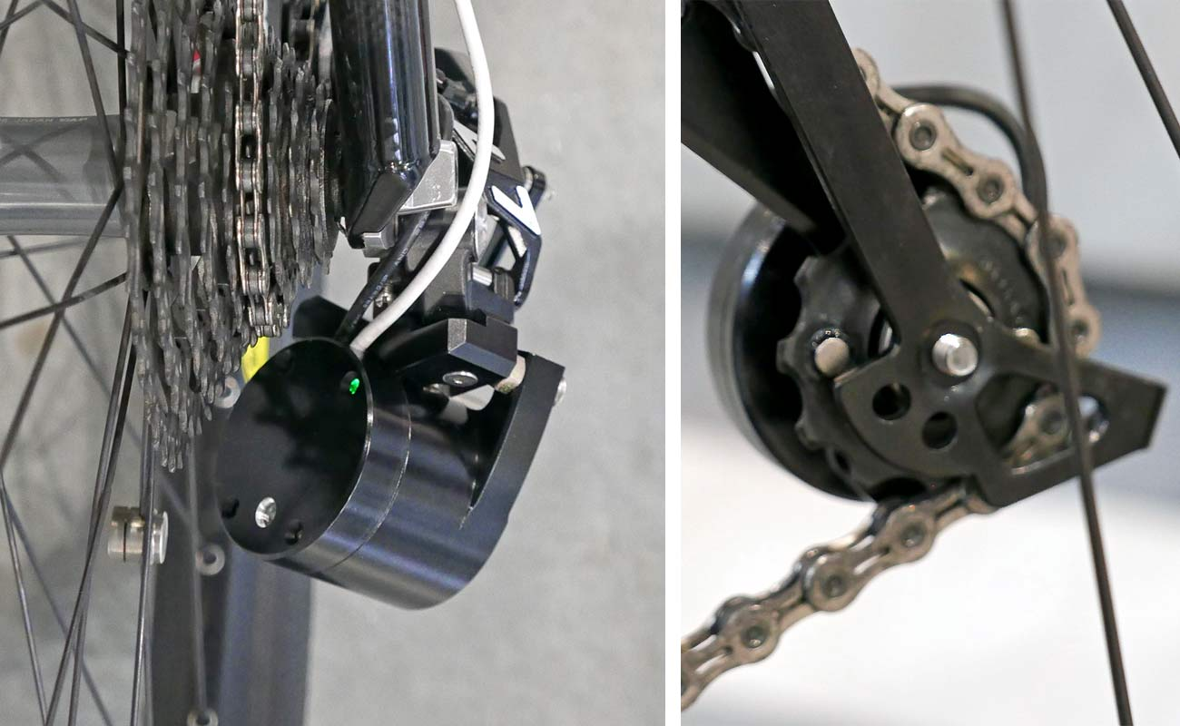 HIPCI Automatic Gearshift System, fully self-contained automated 1x mountain bike smart derailleur auto shifting drivetrain