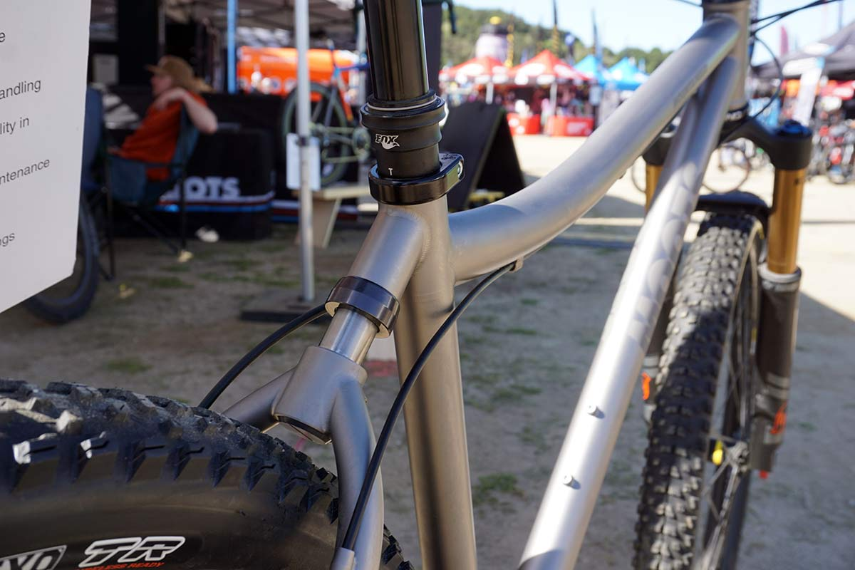 Moots Mountaineer YBB 29er mountain bike with soft tail suspension