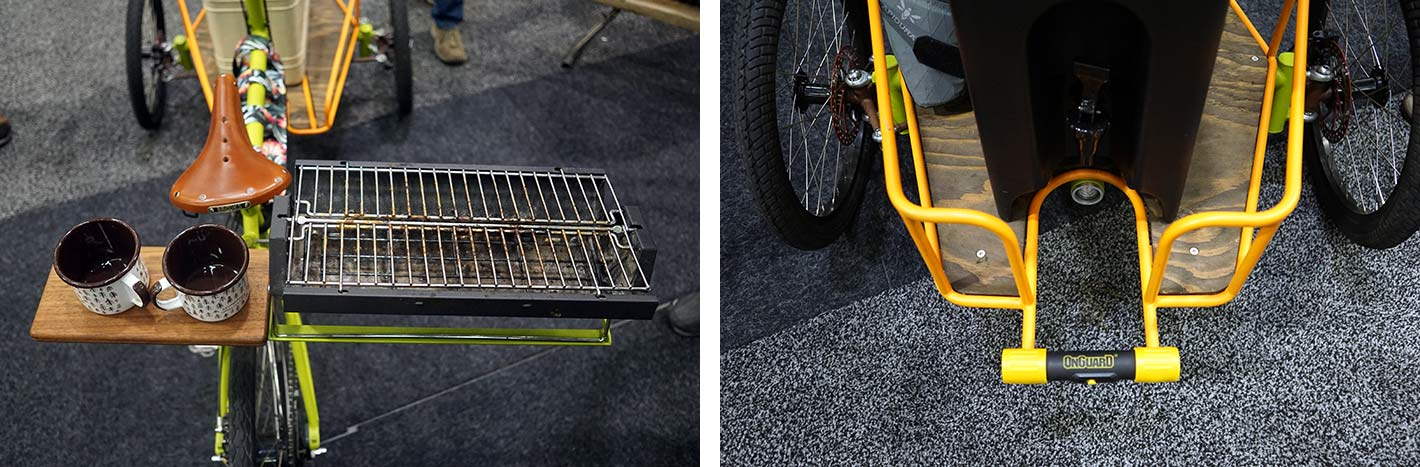 jeremy sycip trike with Japanese hibachi grill from NAHBS 2019