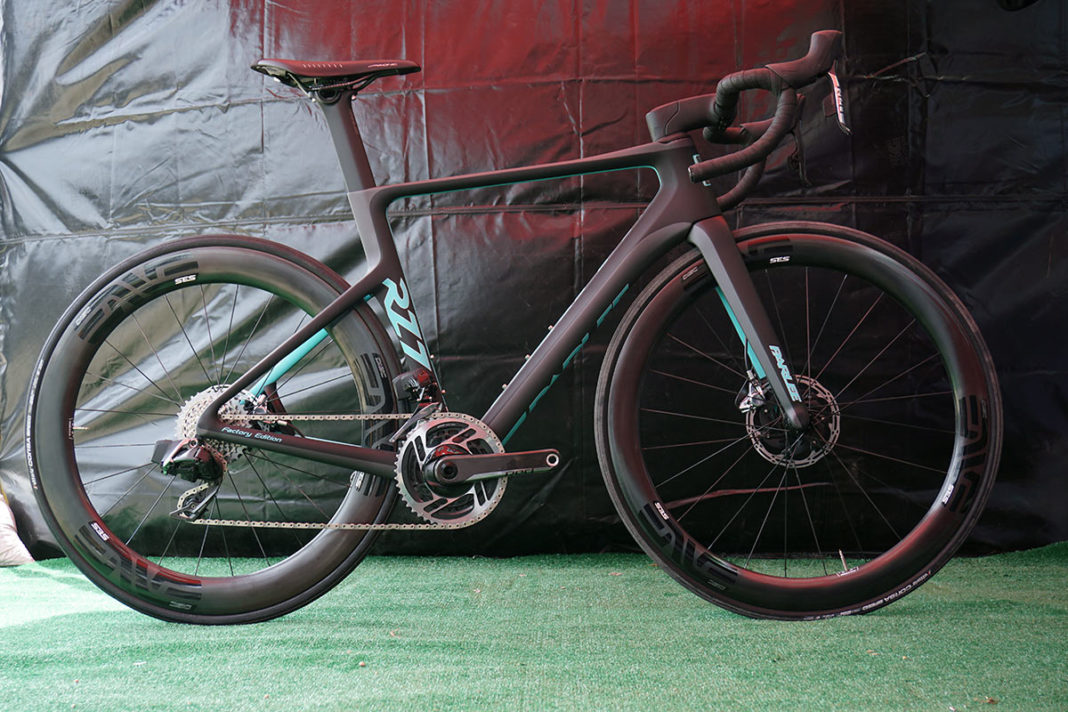 Parlee RZ7 aero road bike with integrated stem and disc brakes cover fairings