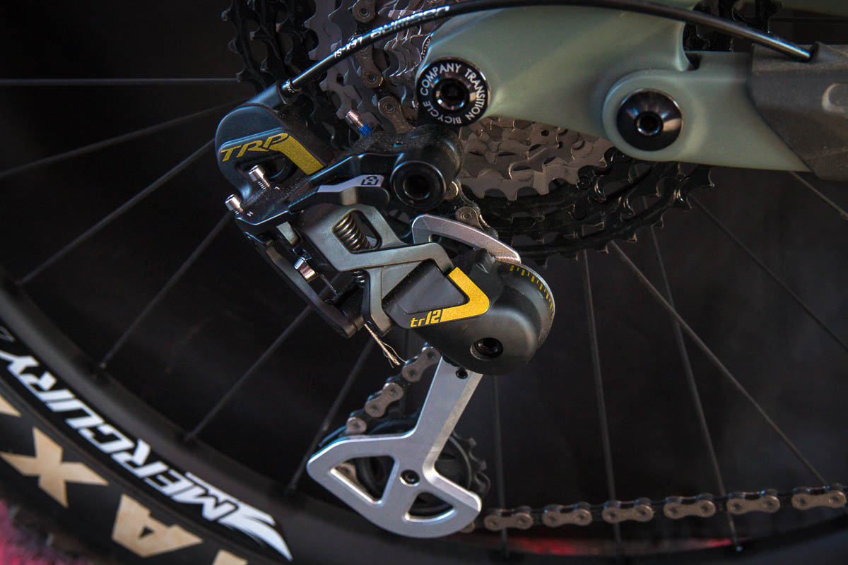 Spy Shot: TRP MTB 1x12 rear derailleur and shifter look