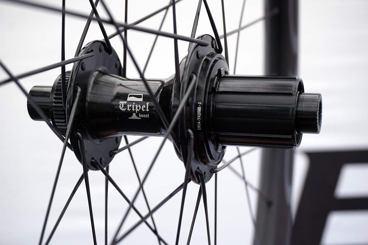 boyd tripel mountain bike hubs offer very quick engagement with low drag