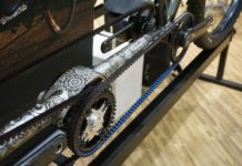 Co-Motion belt drive tandem bicycle with pinion gear box