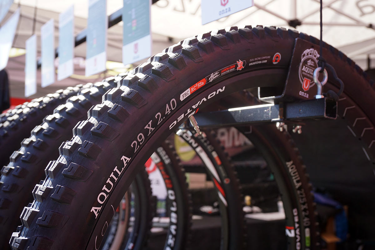 2019 Onza Aguila 29er downhill and enduro mountain bike tire designed with Aaron Gwin