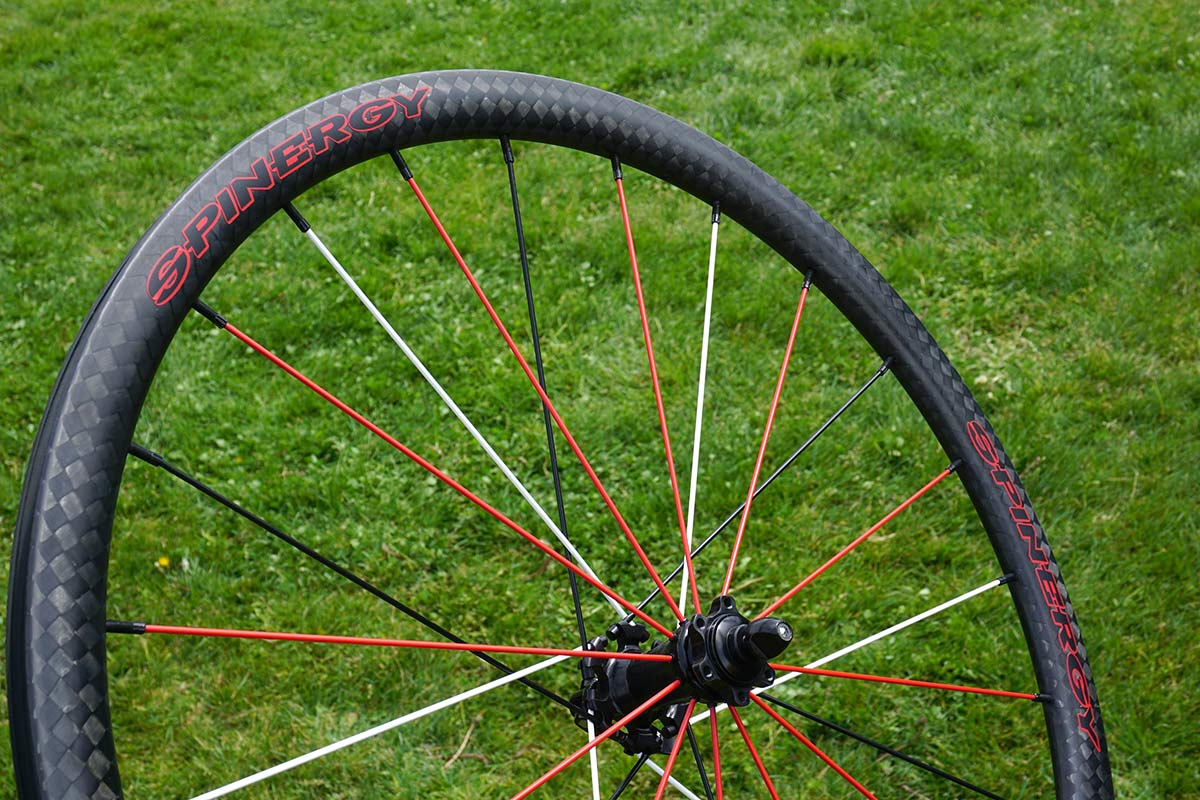 spinergy GXC carbon and alloy gravel road bike wheels with PBO fiber spokes