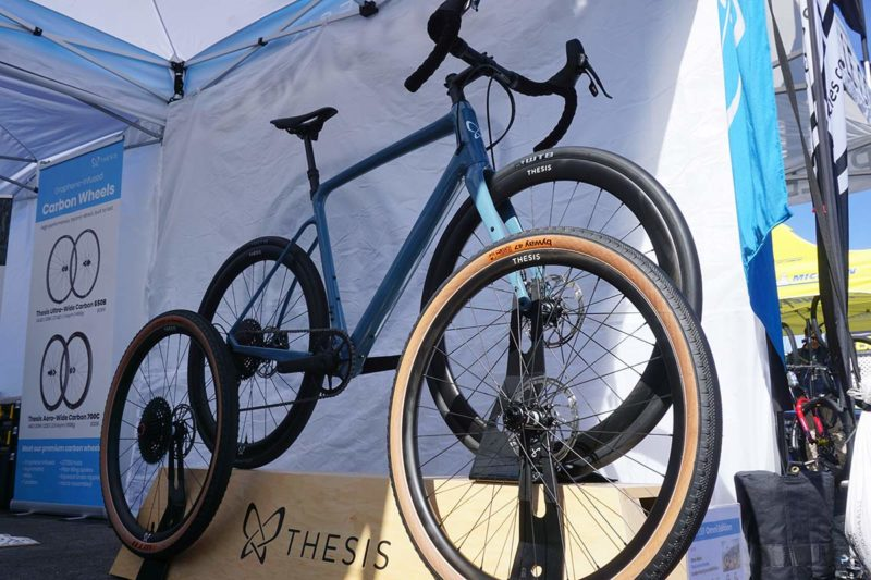 Thesis all-road bike with new blue colorway and dual wheel size package to get both 700c and 650b wheels with your bike