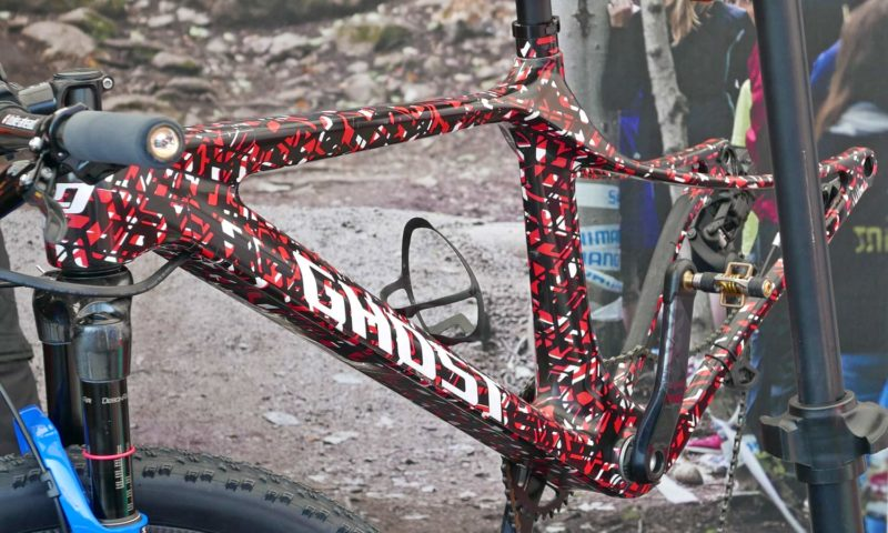 Ghost Lector 2.0 29er prototype carbon XC hardtail with swooping flexy seatstays, cross-country race carbon hardtail mountain bike, Anne Terpstra, Nove Mesto XCO World Cup racing