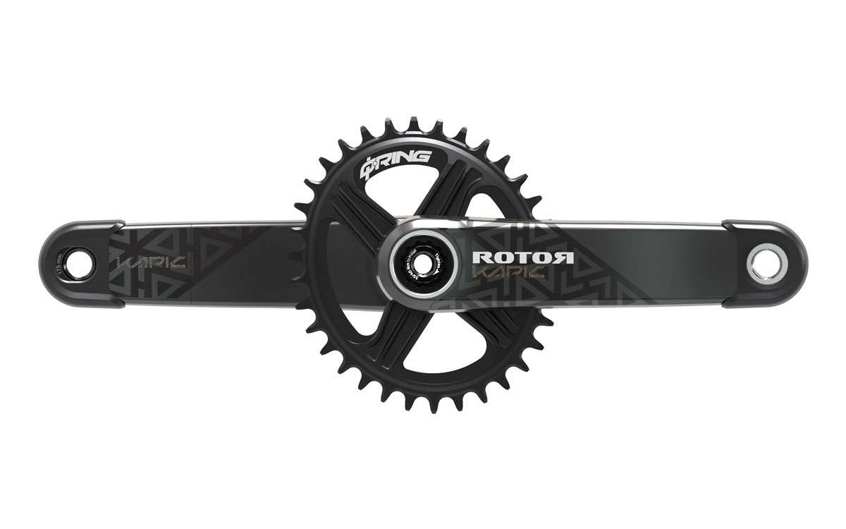 Rotor Kapic MTB crank goes carbon with lightest and stiffest crankset to date