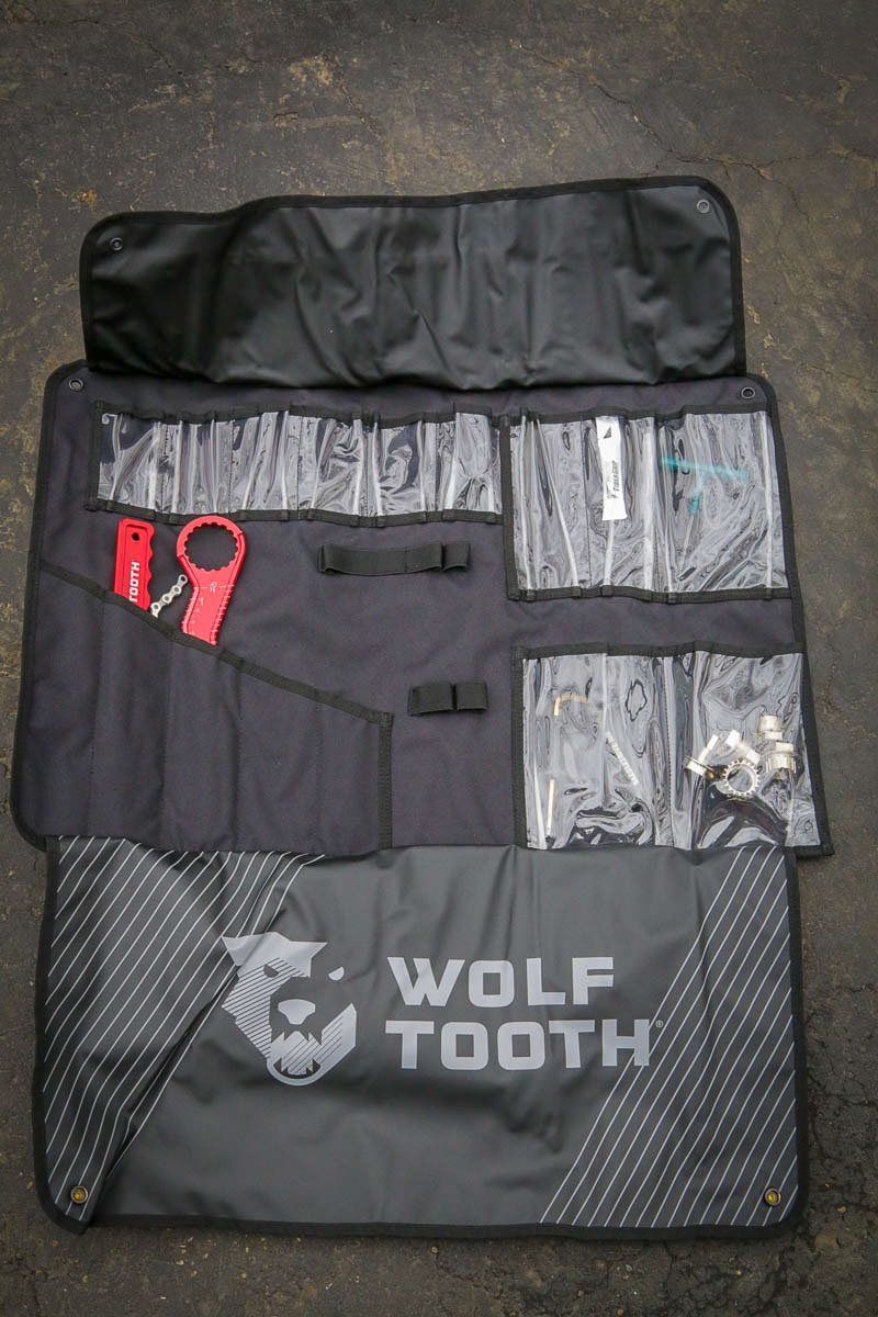 What to pack in your bike case for international travel. Wolf Tooth Components travel tools are light weight and compact.