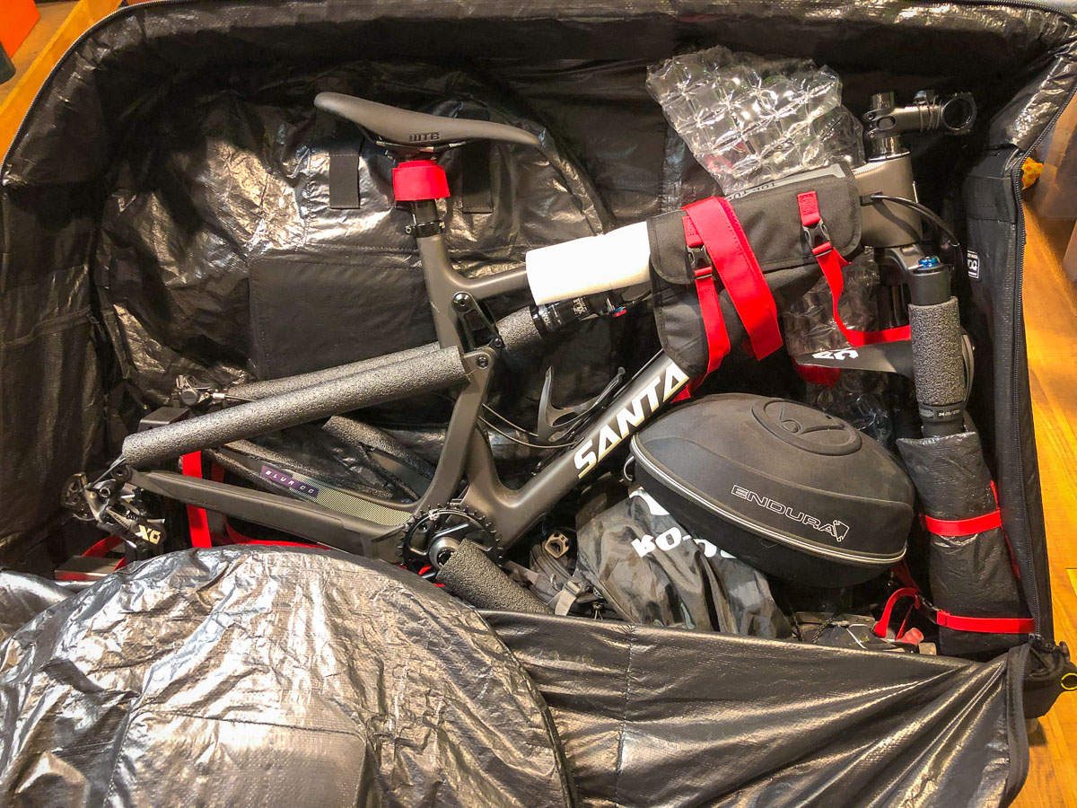 How to pack your bike in a soft bike bag with other gear?