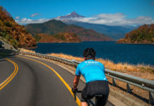 riding around volcanoes in chile with trek travel