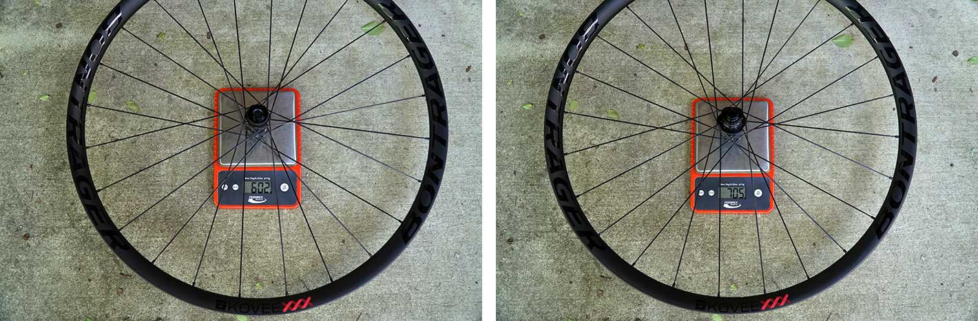 first look at new Bontrager Kovee XXX ultralight and wide xc mountain bike wheels actual weights