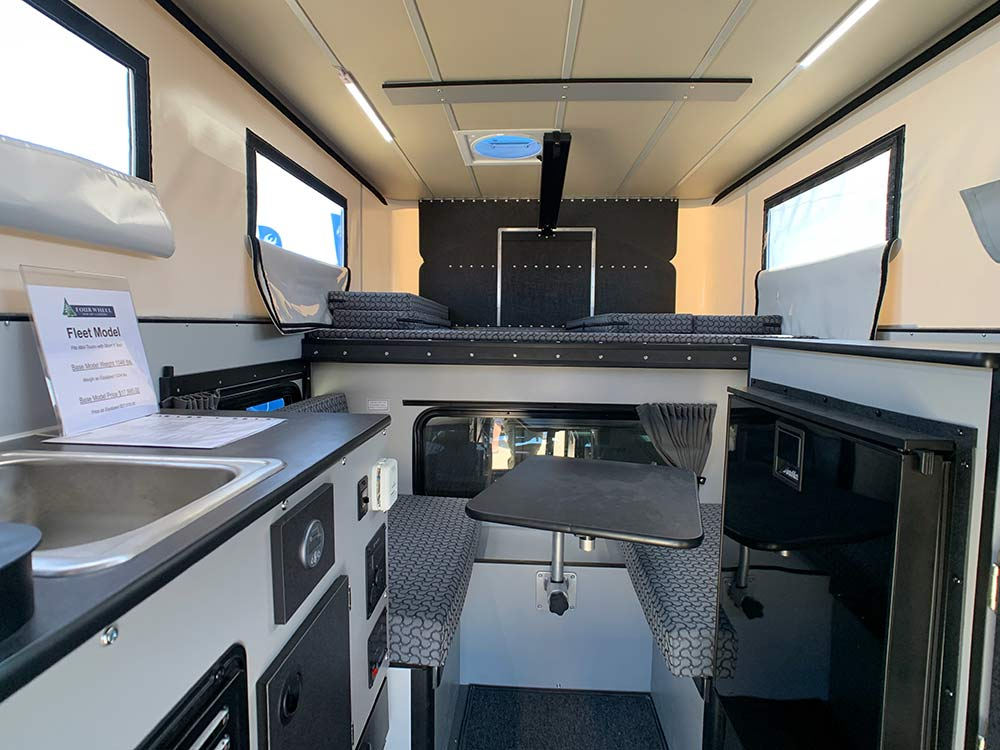 pop up camper for pickup truck beds with full rv-style hookups