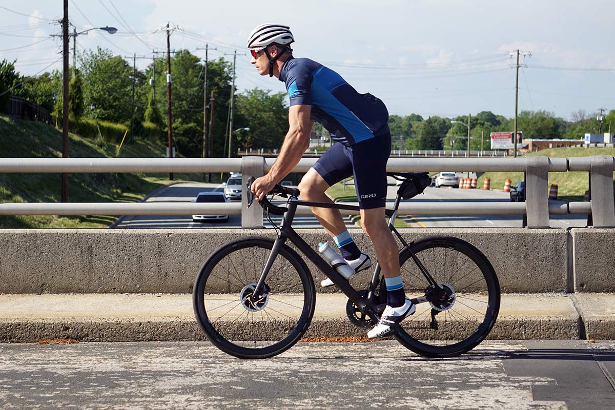 giro chrono expert cycling bibshorts and jersey are made with ecofriendly recycled material and Lycra from ReNew