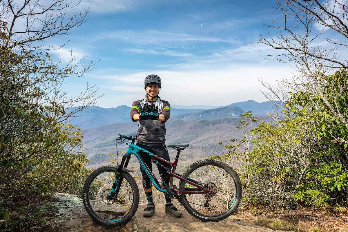 bikerumor pic of the day pisgah national forest in north carolina, on the black mountain trail.
