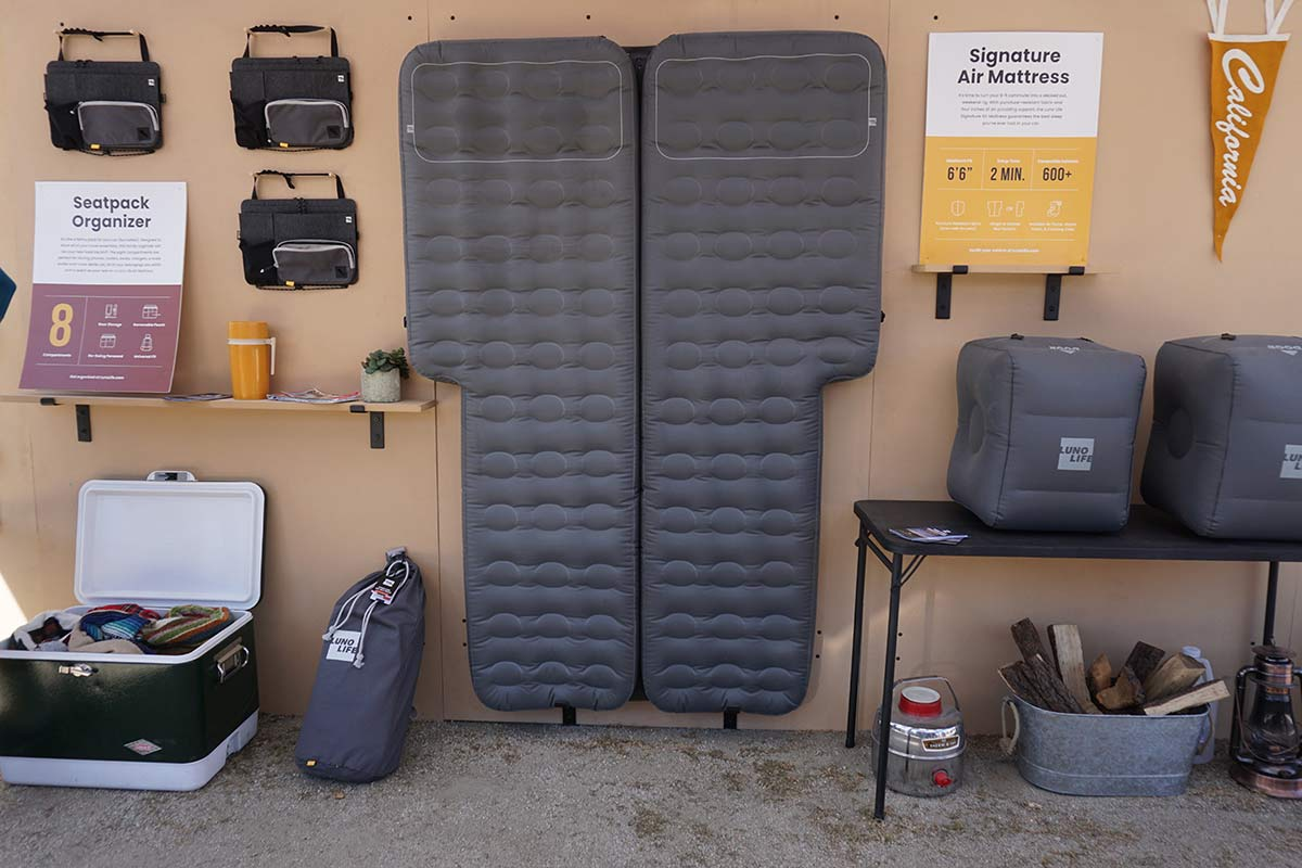 is there an air mattress shaped for car camping