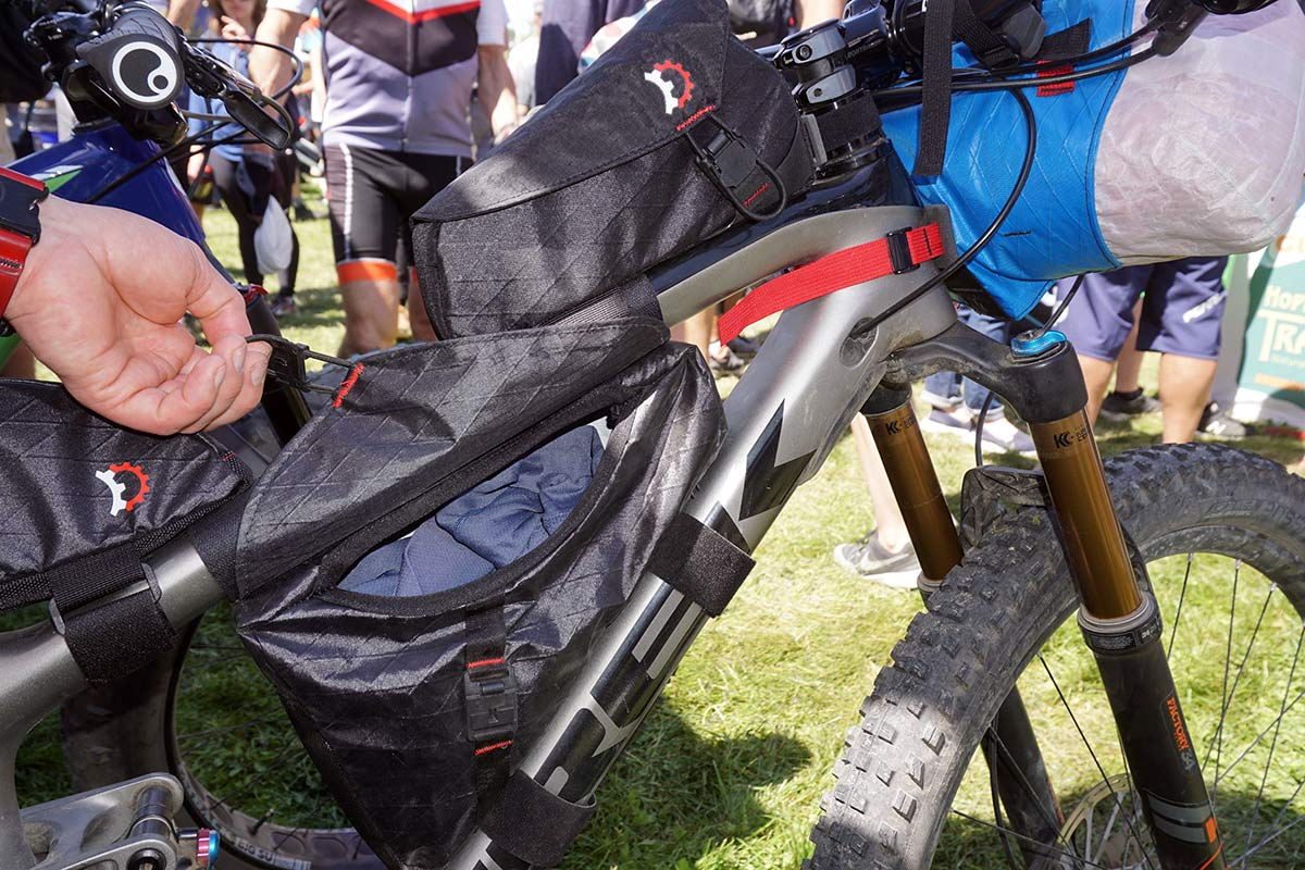 revelate Hopper small frame bag for full suspension mountain bikes to fit inside the front triangle with suspension