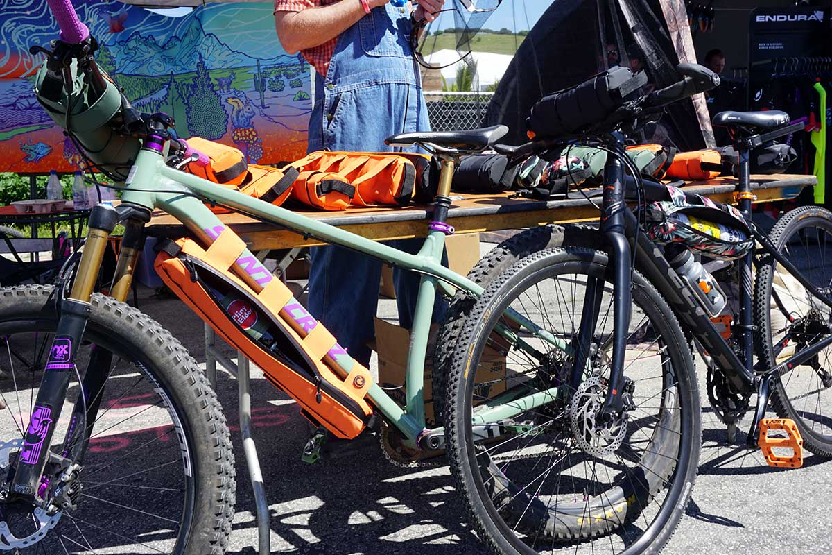 stashers insulated bike frame bags for keeping cans and bottles cold on your ride