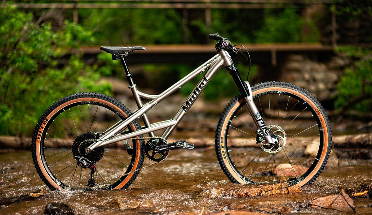 mullet honeymaker titanium hardtail mountain bike with mixed wheel sizes