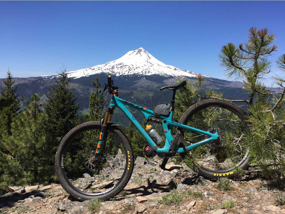 bikerumor pic of the day This is a viewpoint on the relatively new upper Cooks Meadow Trail in the Mt Hood National forest. Fun downhill singletrack!