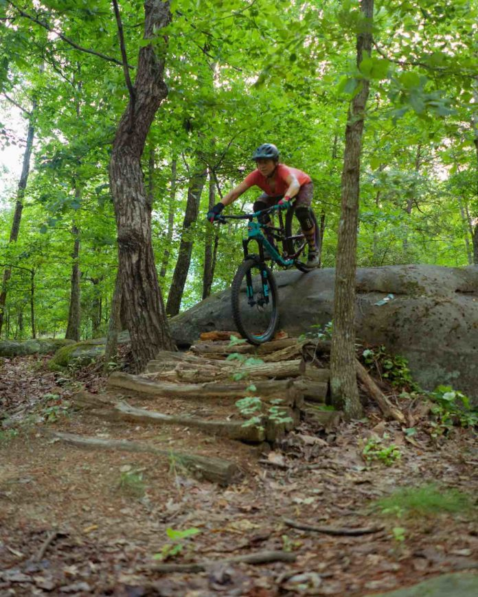 bikerumor pic of the day Chunky Skills Area Chattanooga, Tennessee.