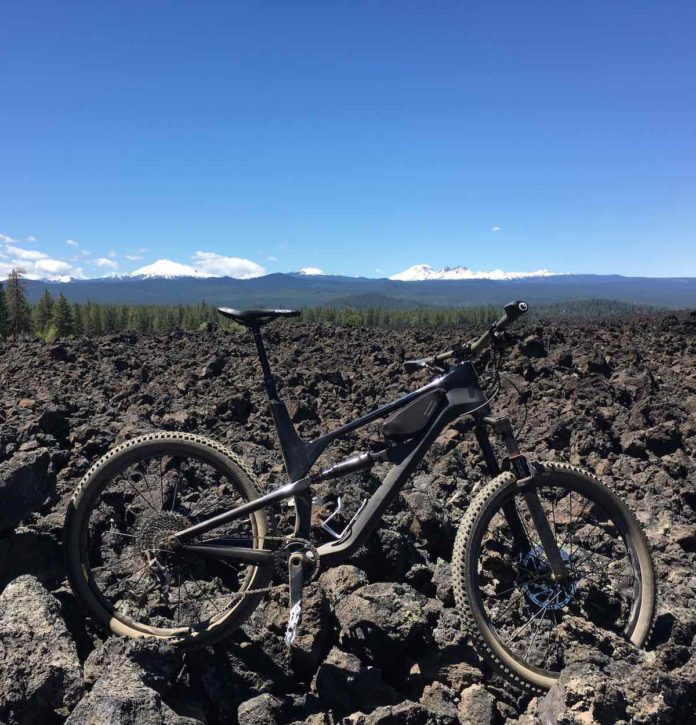 bikerumor pic of the day lava flow south of bend, oregon, mountain bike trails.