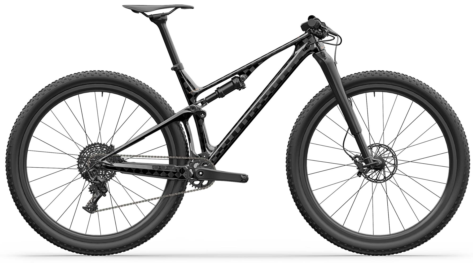 Unno Horn 100mm XC bike, limited edition lightweight carbon short-travel cross-country race mountain bike